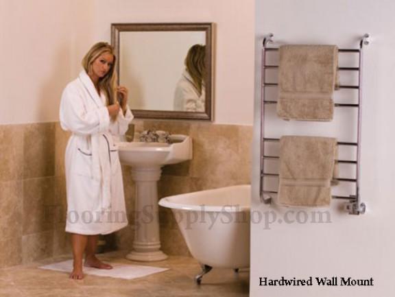 Towel Warmers Kensington Satin Nickel By