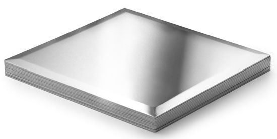 Metal Tiles Polished Aluminum 4 x 4