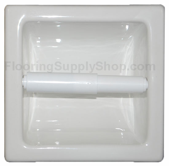 Recessed Tissue Holder Extended White Matte By Hcp Industries At