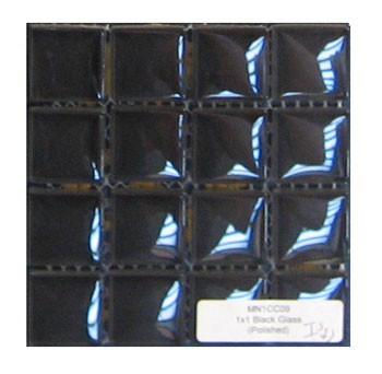 Glass Mosaic Black 1 x1