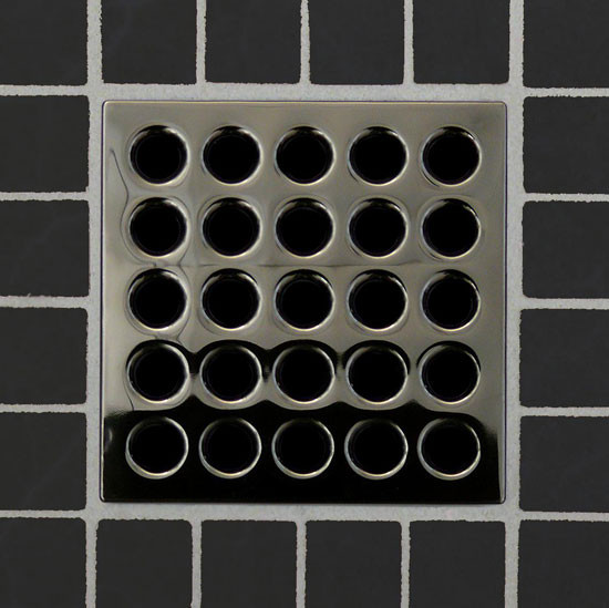 Square Shower Drain Grates Black Chrome PVD
