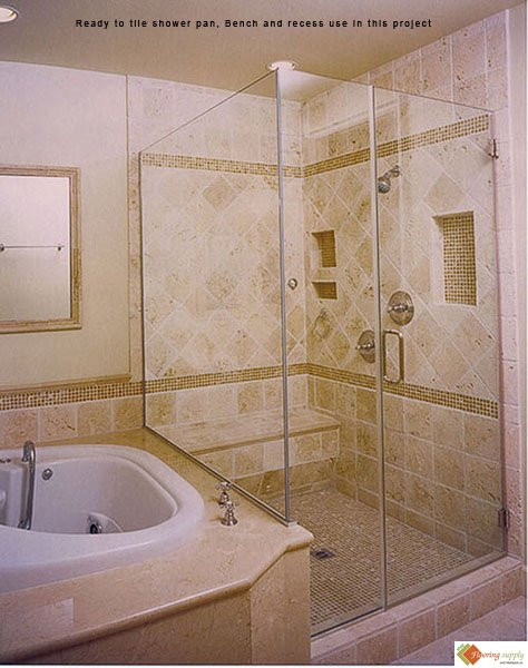 How To Do Curb On A Shower Pan Bathroom
