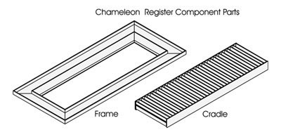 Chameleon Tile and Stone Registers, Floor Vent Registers, register for tile, floor grilles, grates, diffusers, vents, floor register, registers