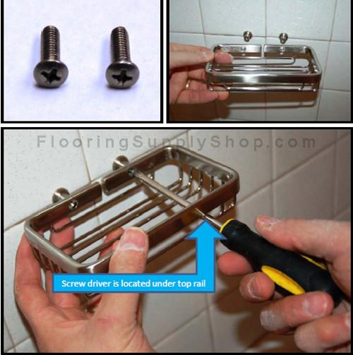 Bathroom accessories, Metal shelf. tileware Promessa, corner shelf, bathroom shelf, shampoo shelf, shower shelf, Soap dish corner shelf