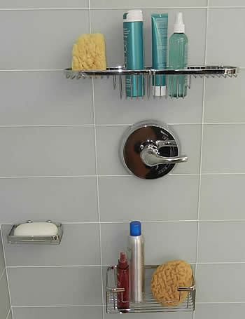 Tile Fastening System, Tile Fastener,  Bathroom Organization, Shower Organization, tileware products, tileware bathroom fixtures, tileware fixtures, tileware Promessa, promessa fixtures, bathroom fixtures