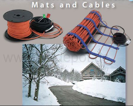 Snow and Ice melting radiant heating from flooringsupplyshop.com by SunTouch watts radiant are high quality Electric Radiant Heating systems for residential and commercial use