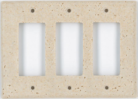 Deco Electrical Plates Triple GFI Ivory