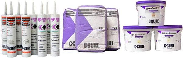 Sanded Caulking, Non-Sanded Caulking, C-Cure Caulk 986 Caulking Materials, Setting Material, Thinset, non-sanded Grout, Sanded Grout Mortar, cement, C-Cure, Building supply, Building material.C-Cure Sanded Grout 924