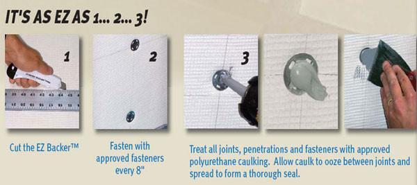 ProBoard EZ BACKER Foam Based Backer Board is light in weight and heavy in duty!