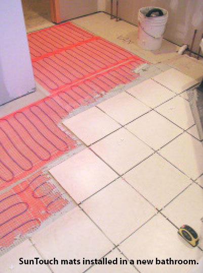 Tile Radiant Floor Heating Mat Kit In Addition Radiant Floor Heating