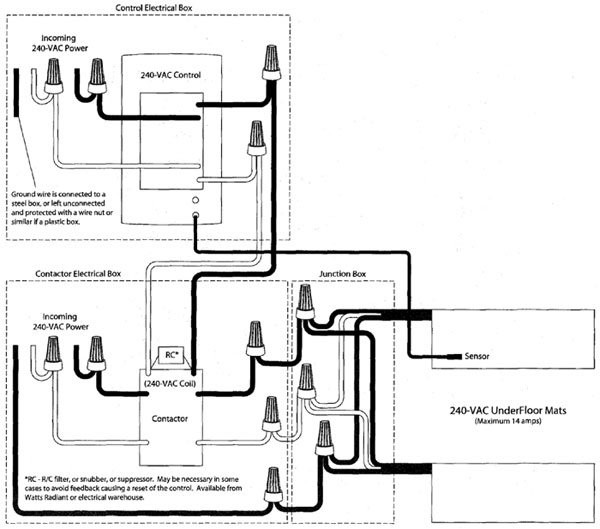 Contactor Wiring Diagram Underfloor Heating : Flooring supply shop and floors heating