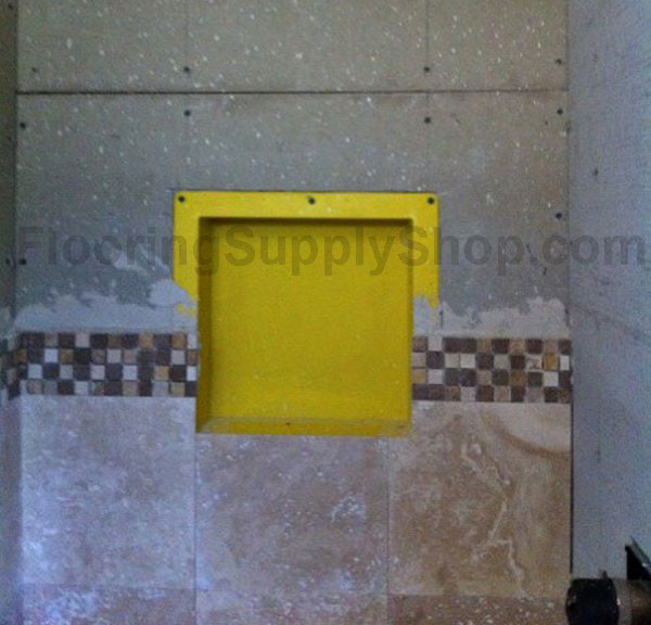 Yellow Ready To Tile Recess 14 X 14 From Duk Liner