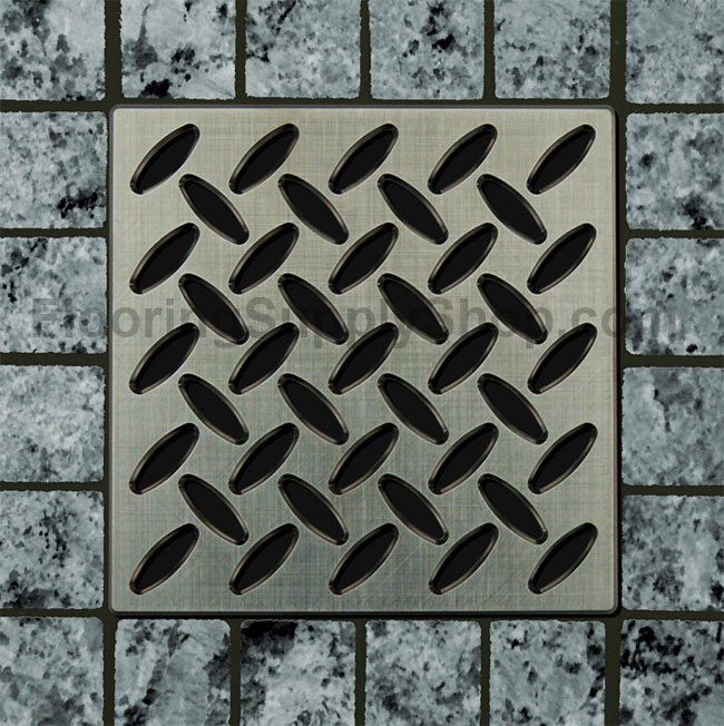 Ebbe Unique Square Shower Drain Grate Diamond