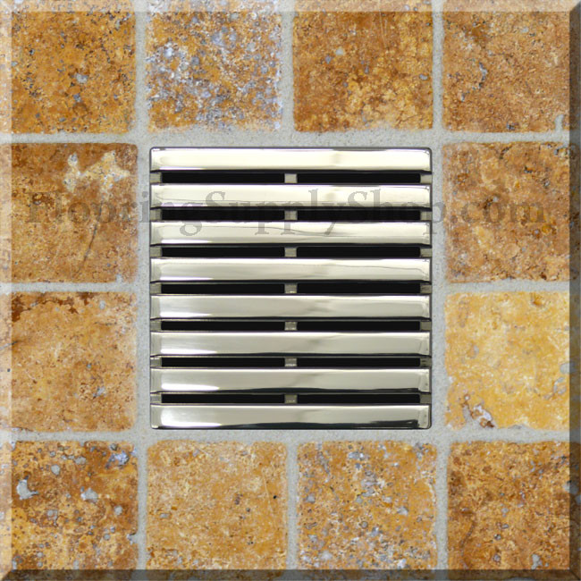 Ebbe Unique Square Shower Drain Grate Parallel