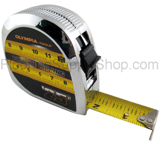 Tape Measure E Z Read Chrome 25 Feet By