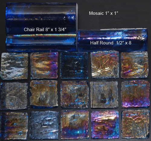 Glass Tile Great Barrier - Clear Blue