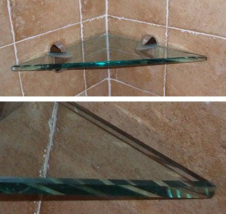 Elegant Tempered Glass Shelf Triangle 13   Diamond