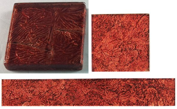 Hand Colored Glass Tiles Red Planet