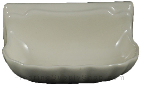 Porcelain Soap Dish Shell Small - Bone Almond Glossy