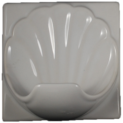 Porcelain Soap Dish Shell Large - Glossy White