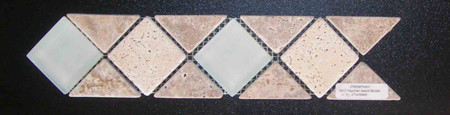 Hayman 3 x 12 Glass and Stone combination