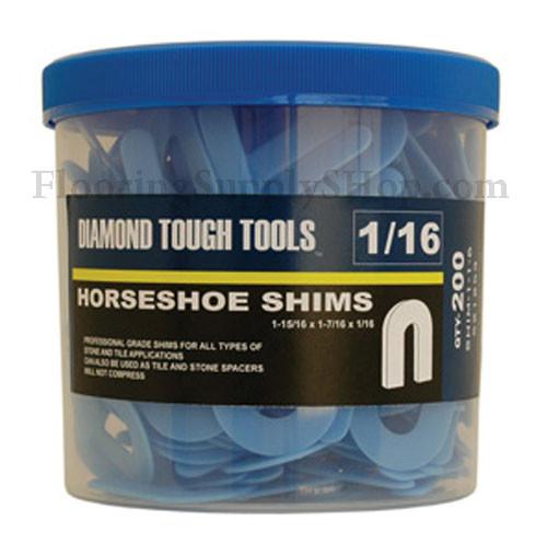 Plastic Horseshoe Shims Blue By Flooringsupplyshop