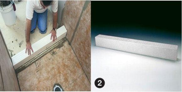 Schluter Kerdi Curb System Shower Waterproof Membrane By