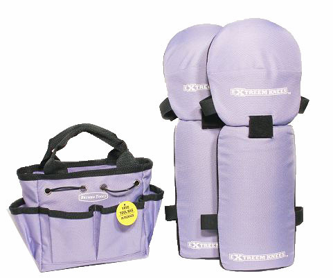 Full Length Canvas Shell Knee Pads Lavender