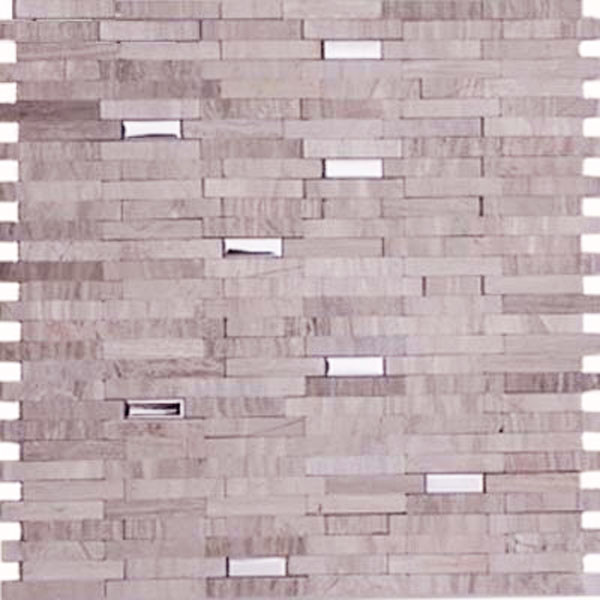 Marble and Stainless Steel Mixed Mosaic Mix Beige