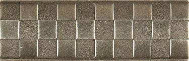 Metal Checker Liner Pewter 2 x 6