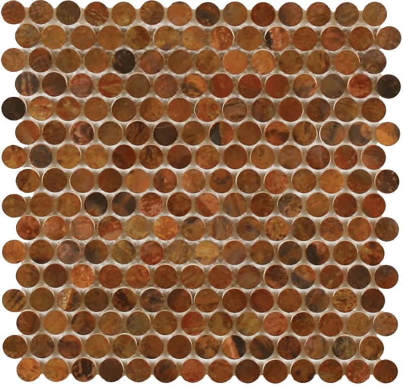 Home tile metal tile mosaics metal tile penny round mosaics metal tile