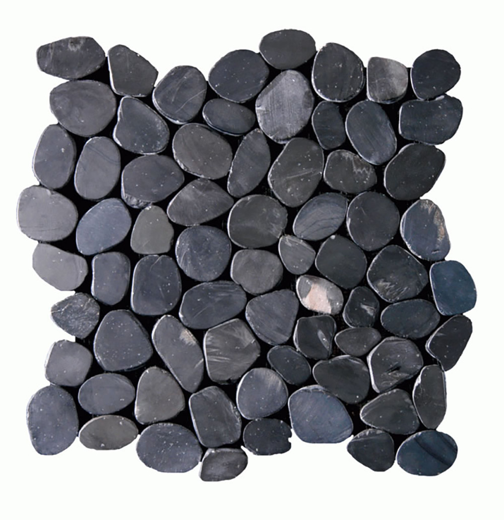 Sliced Pebbles Collection - Stained Black