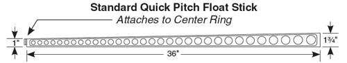 Quick Pitch Extra Float Stick Single Piece