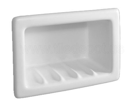 Recessed Soap Dish Porcelain Ice White By Hcp Industries