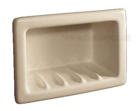 Recessed Soap Dish Porcelain Standard Colors