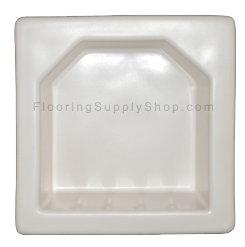 Porcelain Hotel Mini Soap Dish 6x6 White Matte
