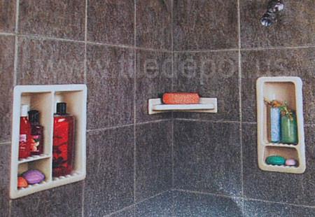 bathroom accessories, recessed shower shelf, shower recessed shelves, shower shelves, shower niches