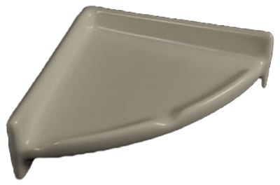 Porcelain Corner Shelf Round Standard Colors By Hcp