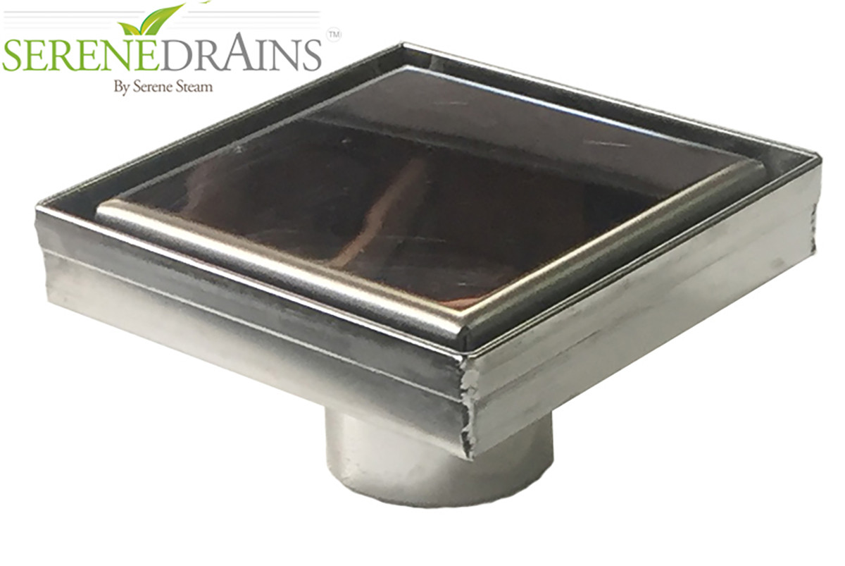 Royal Drain Solid Flat Cover by Serene Steam