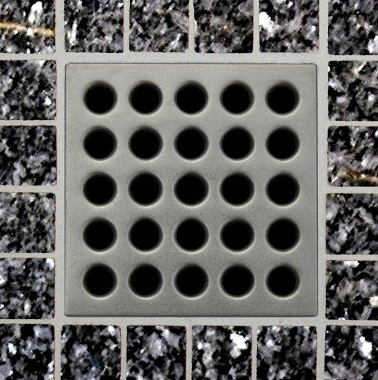 Square Shower Drain Grates Satin Nickel PVD
