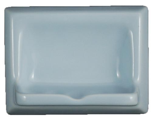 Ceramic Glaze Soap Dish Glossy Sky Blue By