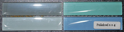 Glass Tile Polished Glossy 1 x 4 Spring