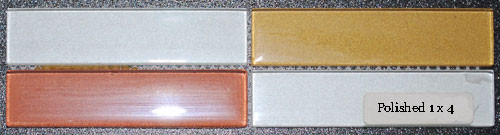 Glass Tile Polished Glossy 1 x 4 Summer Bronze