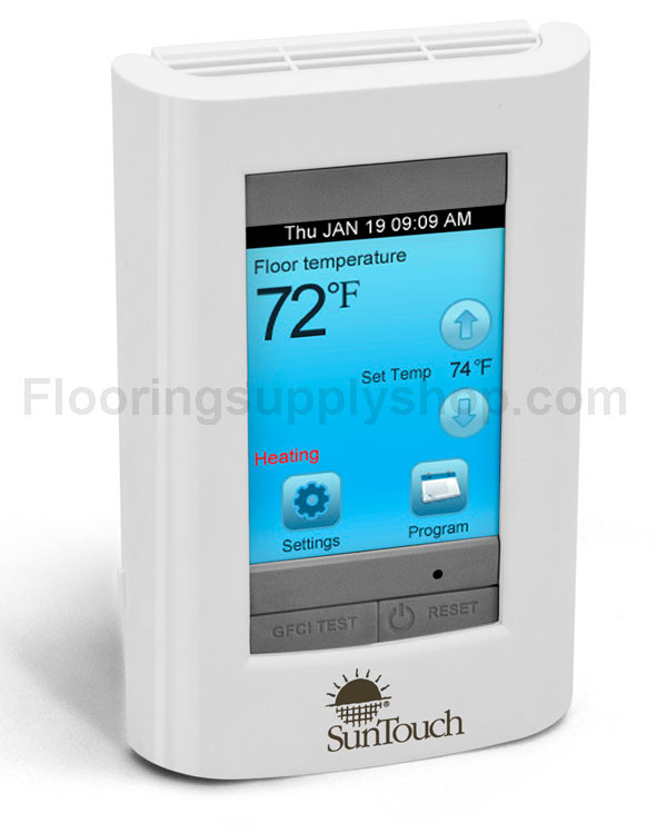 Sunstat touch screen programmable model 500750 by for Heated bathroom floor thermostat