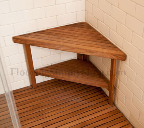 Teak Triangle Corner Bench Extra Large by FlooringSupplyShop.com