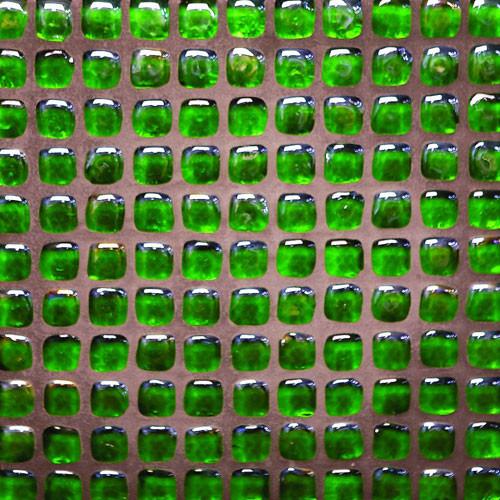 Pebble Glass Mosaic Tile Dark Green by flooringsupplyshopcom