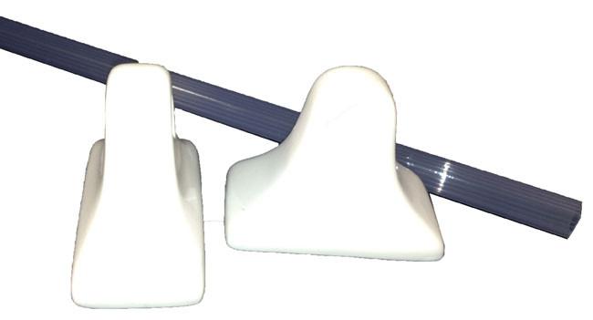 Ceramic Glaze Towel Bar Holder White Glossy By