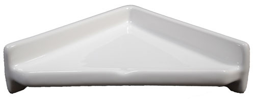 Porcelain Corner Shelf Triangle White Glossy By Hcp