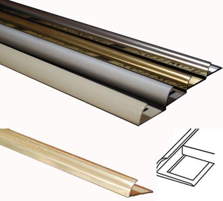 Metal Tile Trim Naturals - Polished Gold, trims for tile ...
